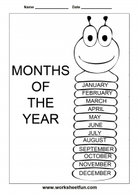 Months of the Year – 1 Worksheet
