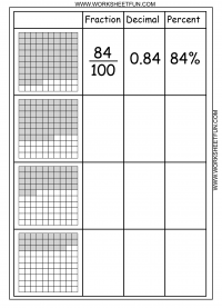 math worksheet : convert between percents fractions and decimals  8 worksheets  : Percentages To Fractions Worksheet