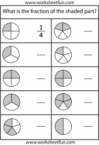 fraction model  free printable worksheets  worksheetfun fractions   worksheets