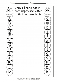 Match Uppercase And Lowercase Letters - 13 Worksheets / FREE ...