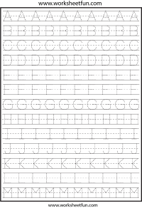 Letter Tracing – 2 Worksheets