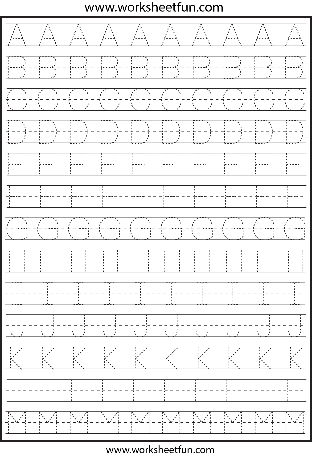 Printables Preschool Worksheets Tracing Letters free traceable alphabet worksheets for preschoolers html capital letter tracing 2 printable worksheets