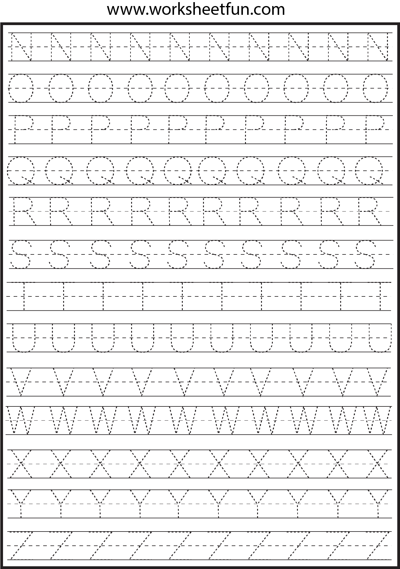 Worksheetfun Letters A : Letter tracing worksheets free printable