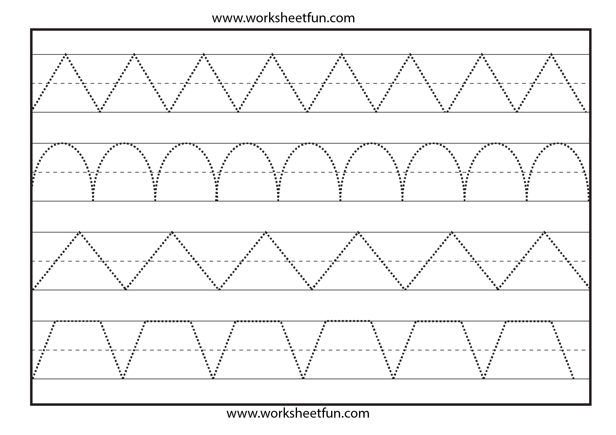 worksheet Pre K Tracing Worksheets line tracing 1 worksheet free printable worksheets worksheetfun preschool tracing