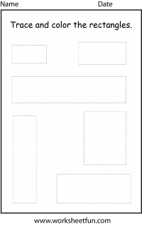 Shape Tracing – Rectangle – 1 Worksheet / FREE Printable ...