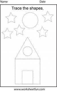 Worksheets Preschool Tracing Worksheets preschool worksheets free printable worksheetfun worksheet picture tracing worksheets