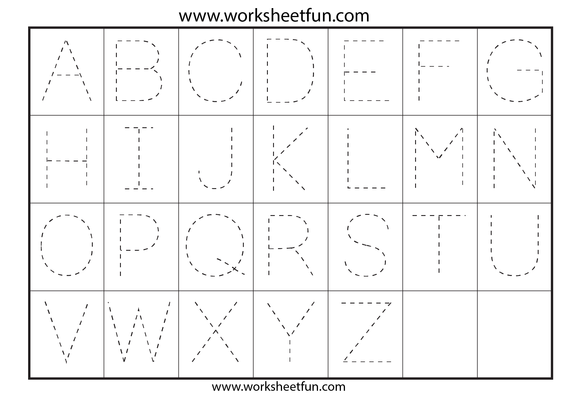 ... Tracing – 7 Worksheets / FREE Printable Worksheets – Worksheetfun