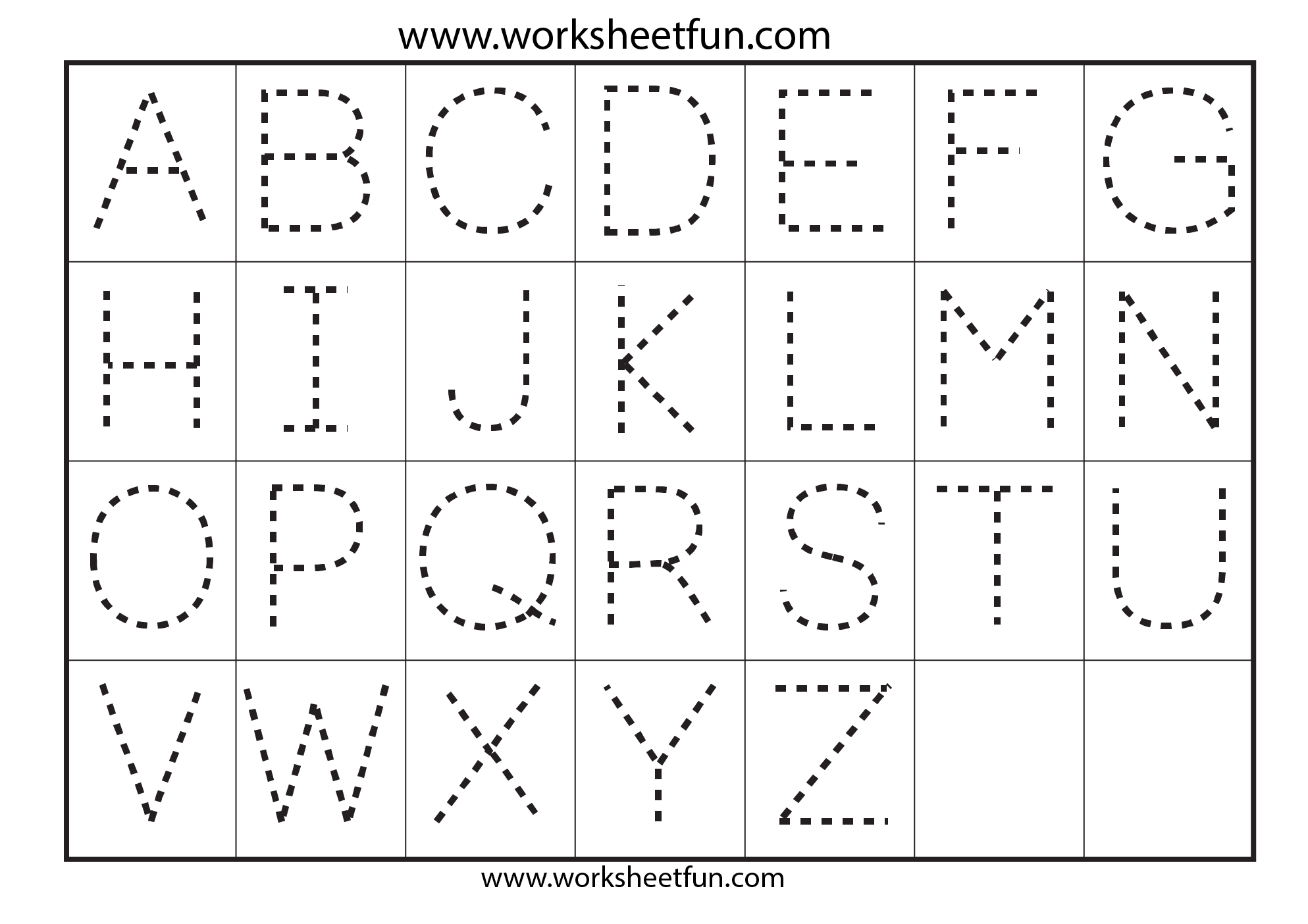 Worksheet Tracing The Alphabet Worksheets For Kindergarten abc worksheets for kindergarten tracing 7 free printable worksheetfun