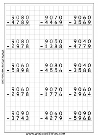 math worksheet : subtraction regrouping  free printable worksheets  worksheetfun : Addition And Subtraction Regrouping Worksheets