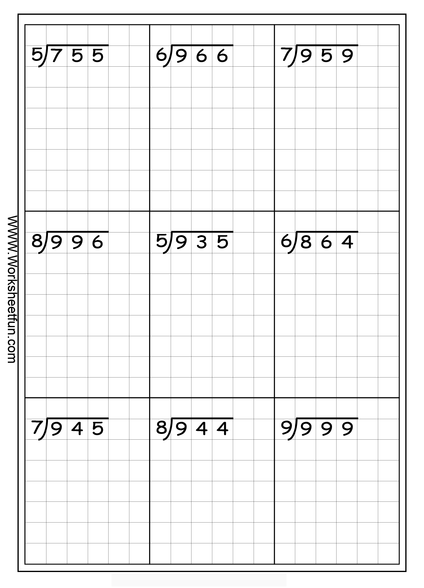 Long Division Worksheet 4Th Grade – Division Worksheets with Remainders 4th Grade