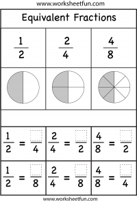 Printables Equivalent Fractions Worksheet fractions equivalent free printable worksheets worksheetfun two worksheets