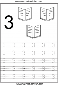 image about Number 3 Printable identified as Range Tracing Worksheets For Kindergarten- 1-10 10