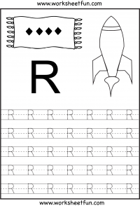 Letter Tracing Worksheets For Kindergarten Capital Letters