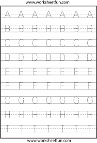 Worksheets Free Alphabet Tracing Worksheets tracing letter free printable worksheets worksheetfun uppercase letters capital 3 worksheets