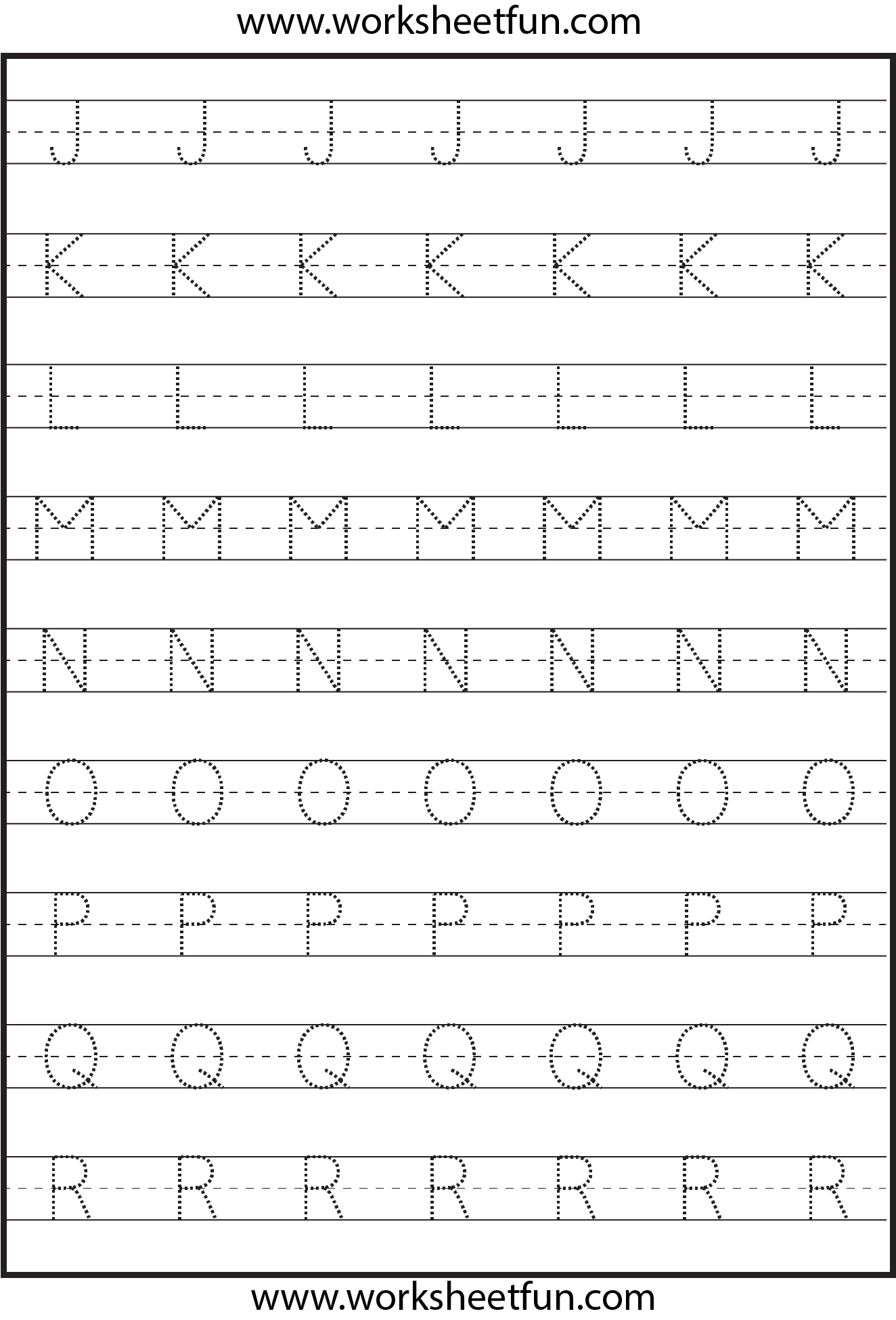 Tracing Uppercase Letters Capital Letters 3 Worksheets – Printable Letter Worksheets
