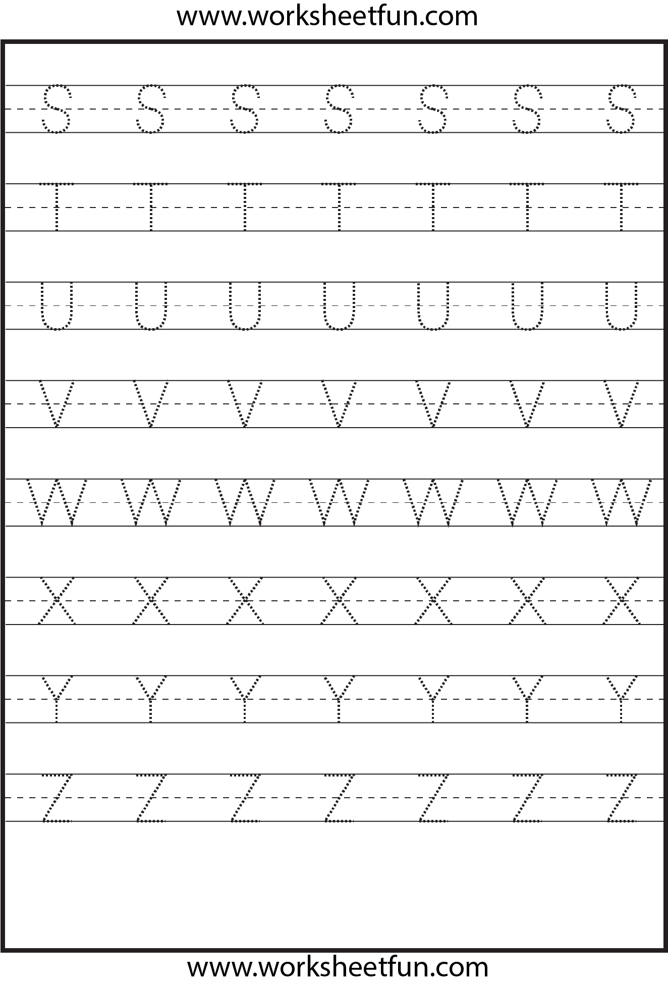 Printable Letters A Z Tracing Worksheets : Tracing uppercase letters capital