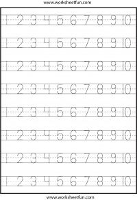Printables Number Tracing Worksheets For Kindergarten tracing number free printable worksheets worksheetfun 1 10 worksheet