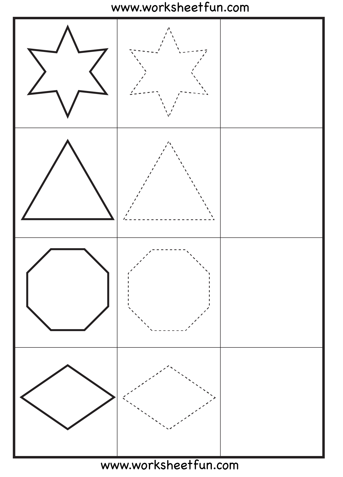 Worksheets Hexagon Worksheets shape tracing circle pentagon oval heart square hexagon shapes