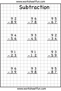 math worksheet : subtraction regrouping  free printable worksheets  worksheetfun : Subtraction With And Without Regrouping Worksheets 2nd Grade