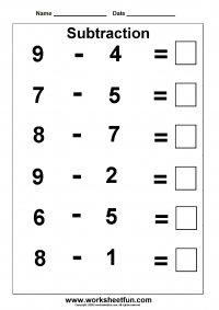 Printables Subtraction Worksheets subtraction 3 kindergarten worksheets free worksheet 1 download