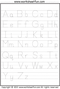 Printables Free Printable Alphabet Worksheets A-z tracing letter free printable worksheets worksheetfun capital and small worksheet