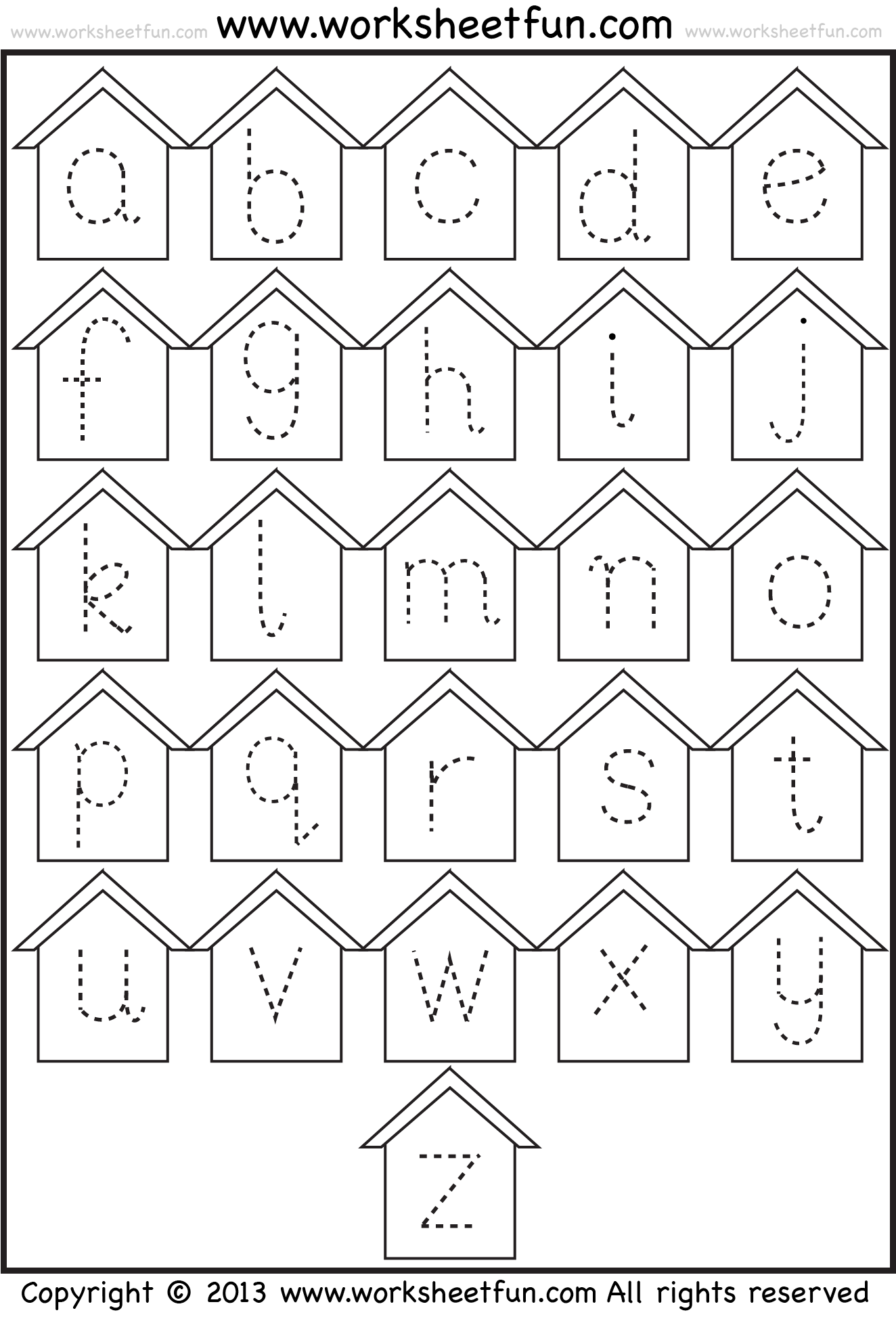 This is a picture of Stupendous Trace Letters Worksheets