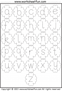 Small Letter Tracing – Lowercase – Worksheet – Flower