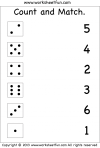 Count and Match – Two Worksheets