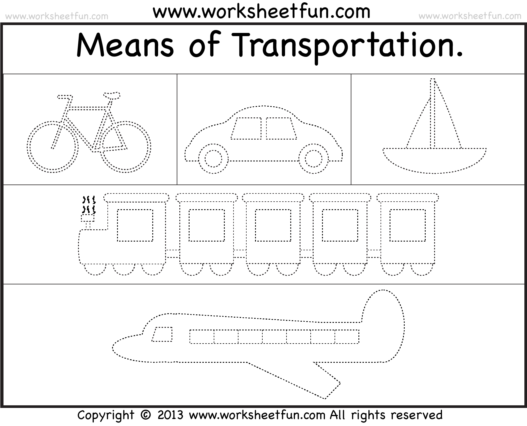 Uncategorized Tracing Names Worksheet means of transportation tracing worksheet free printable transportation