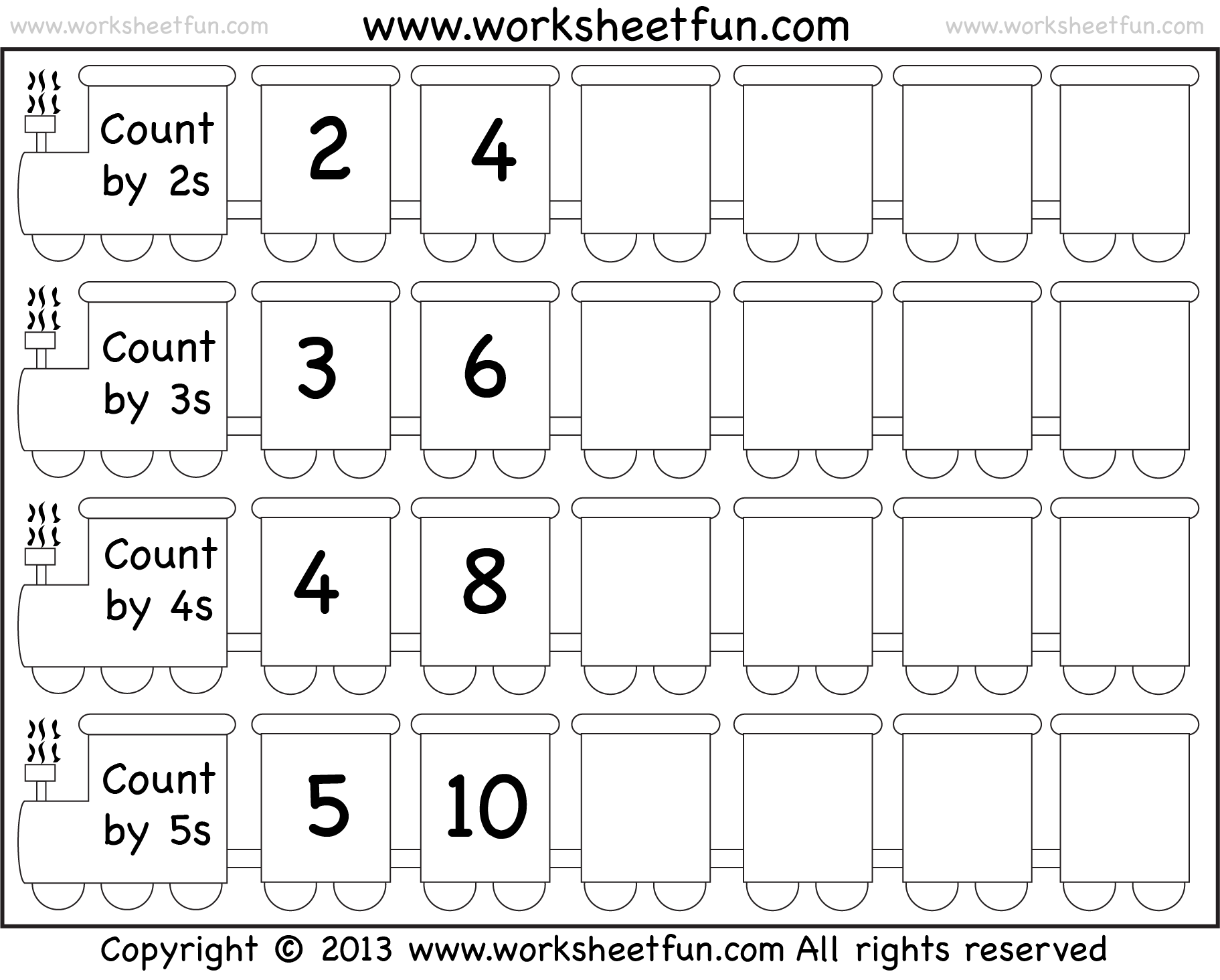 Skip Counting by 2, 3, 4 and 5 – Worksheet / FREE Printable ...