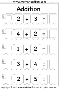 Beginner Addition – 5 Worksheets
