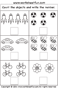 Worksheets Printable Worksheets For Kindergarten Free printable counting worksheets for kindergarten coffemix free worksheetfun