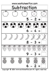 math worksheet : kindergarten worksheets  free printable worksheets  worksheetfun : Subtraction Worksheets Pdf