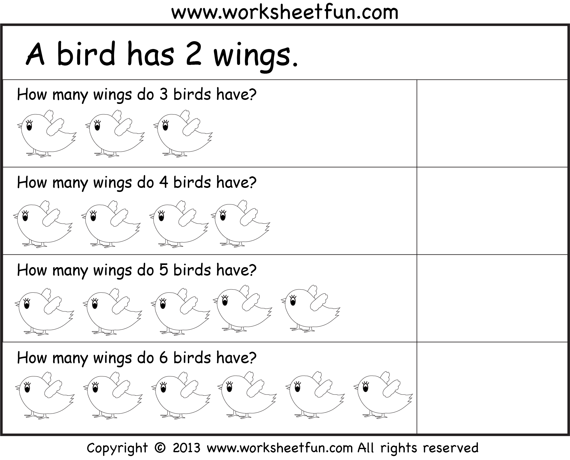... – Four Worksheets / FREE Printable Worksheets – Worksheetfun