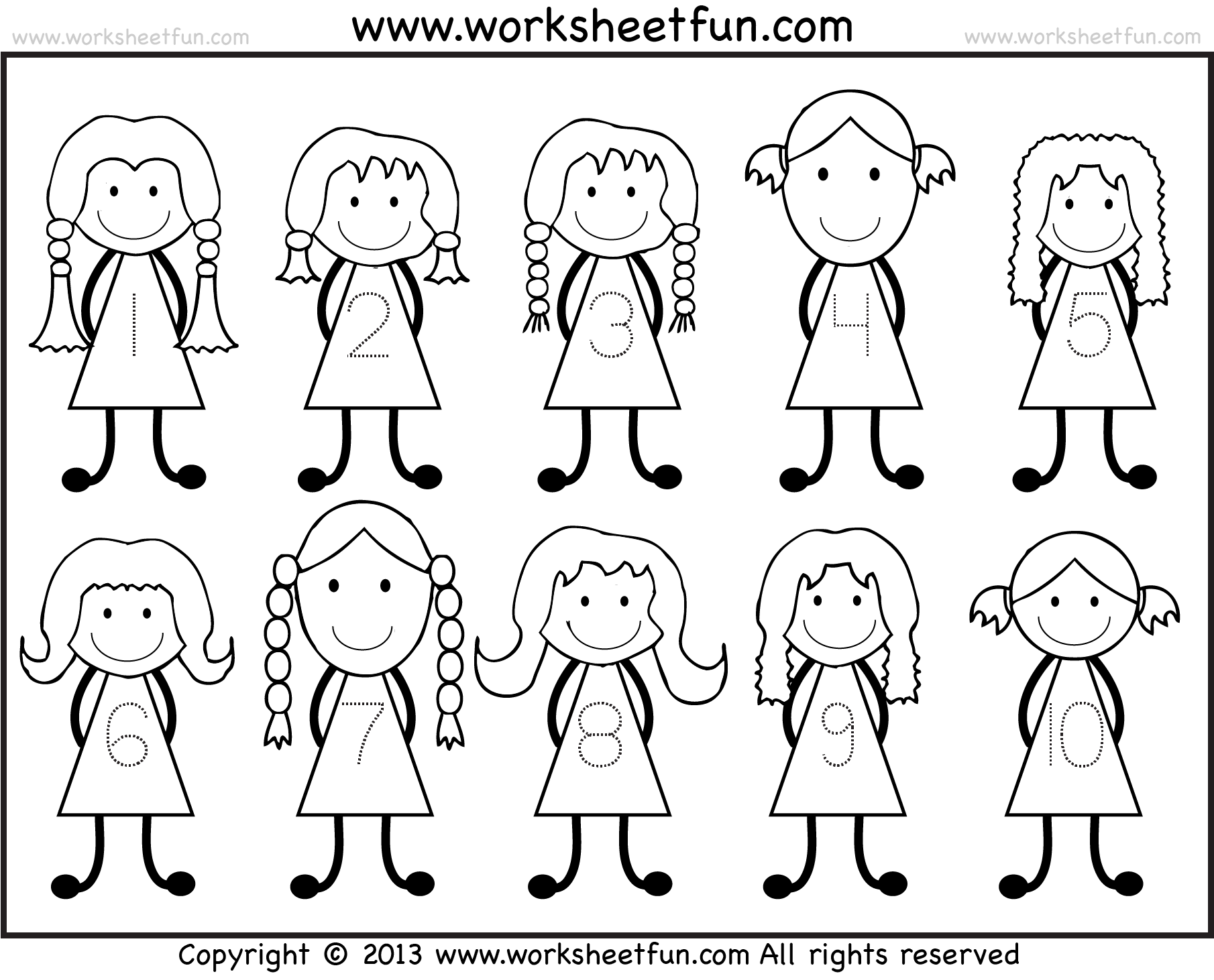 Number Tracing 110 Worksheet FREE Printable Worksheets – Number Tracing Worksheets 1-20