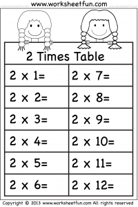 Times Table – 2 Times Table / FREE Printable Worksheets – Worksheetfun
