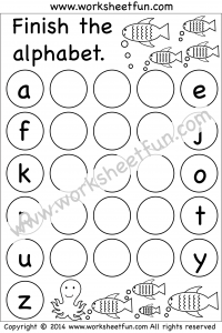 Missing Lowercase Letters – Missing Small Letters – Worksheet