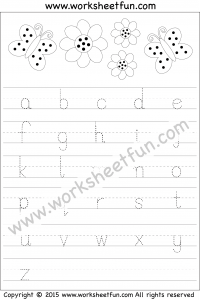 Printables Free Alphabet Tracing Worksheets tracing letter free printable worksheets worksheetfun small lowercase worksheet