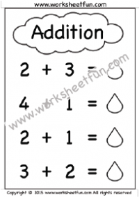 Kindergarten Addition Worksheets – Beginner Addition – 8 Worksheets