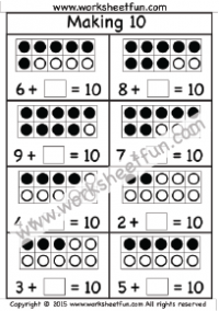 math worksheet : addition  making 10  free printable worksheets  worksheetfun : Addition To Ten Worksheets