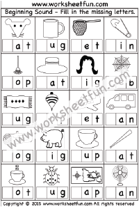 Beginning Sound -1 Worksheet