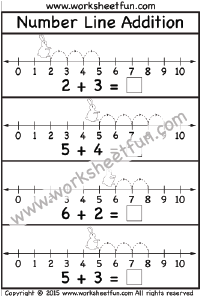 Addition – Number Line / FREE Printable Worksheets – Worksheetfun