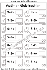 Mixed – Addition/Subtraction – 2 Worksheets
