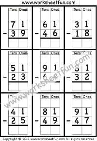 math worksheet : subtraction regrouping  free printable worksheets  worksheetfun : 2nd Grade Math Regrouping Worksheets